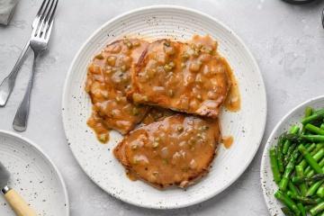 Butterflied Pork Steaks with Tangy Gravy