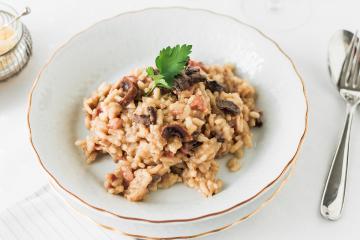 Mushroom & Bacon Risotto